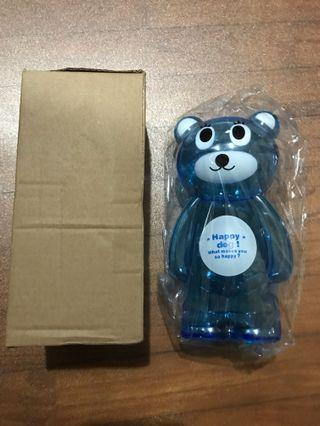 Happy Teddy Bear Piggy Bank Brand New In Box