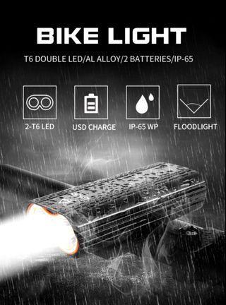 ***In-Stock =Light T6 LED 2400 Lumens USB Rechargeable Lantern Flashlight GIYO