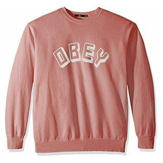 OBEY American street brand round neck pullover sweater
