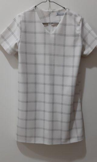 White Square Dress