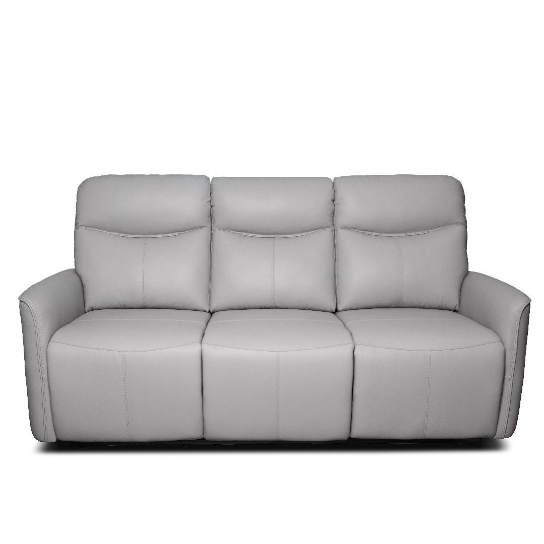 3 seater power leather recliner in high quality top grain