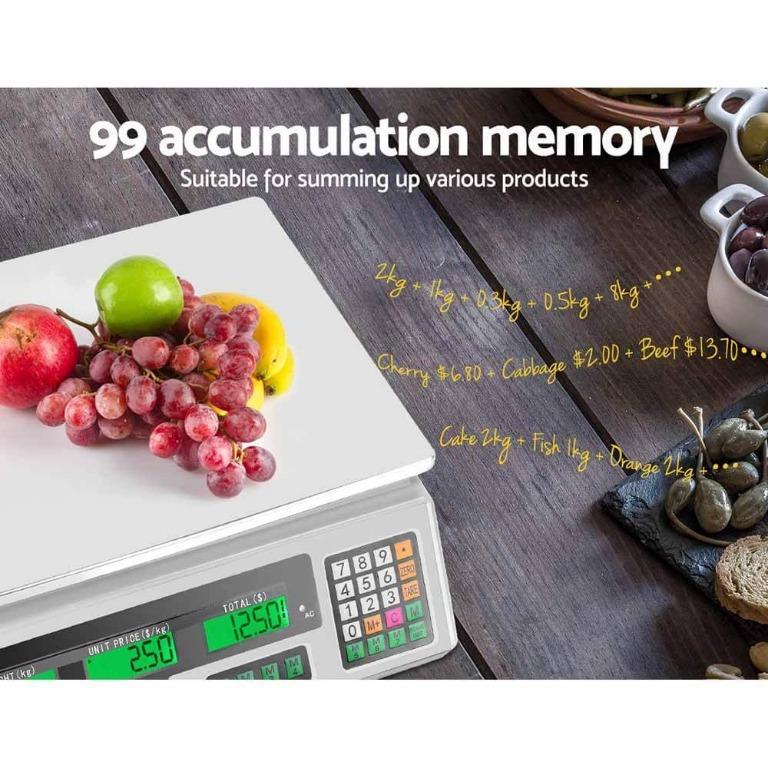 40KG Digital Kitchen Scale Electronic Scales Shop Market Commercial