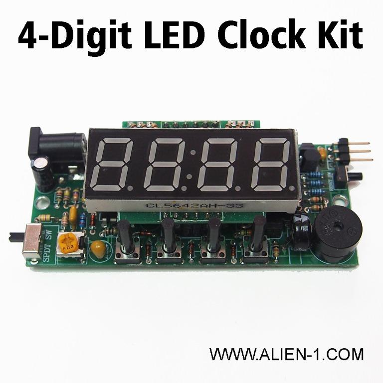 4 Digit Clock Kit DIY LED Multi-function clock for STEAM project Desk Clock Wall Clock