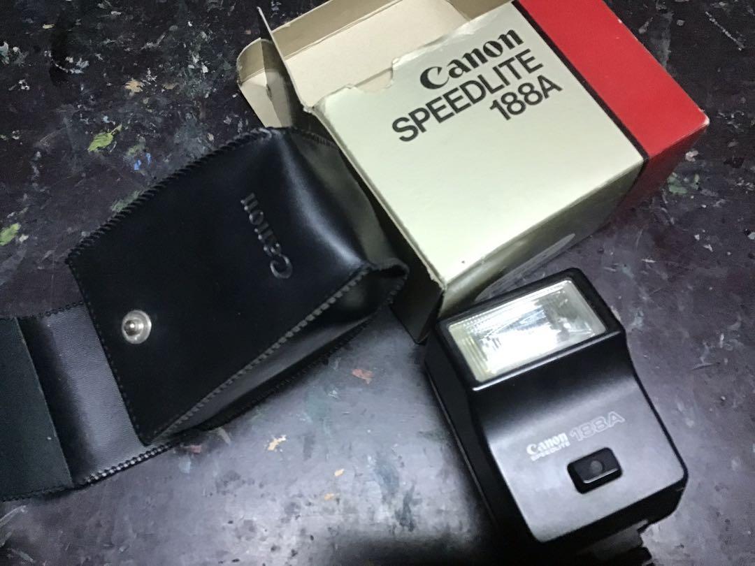 閃光燈 canon 188a 二手 無電池