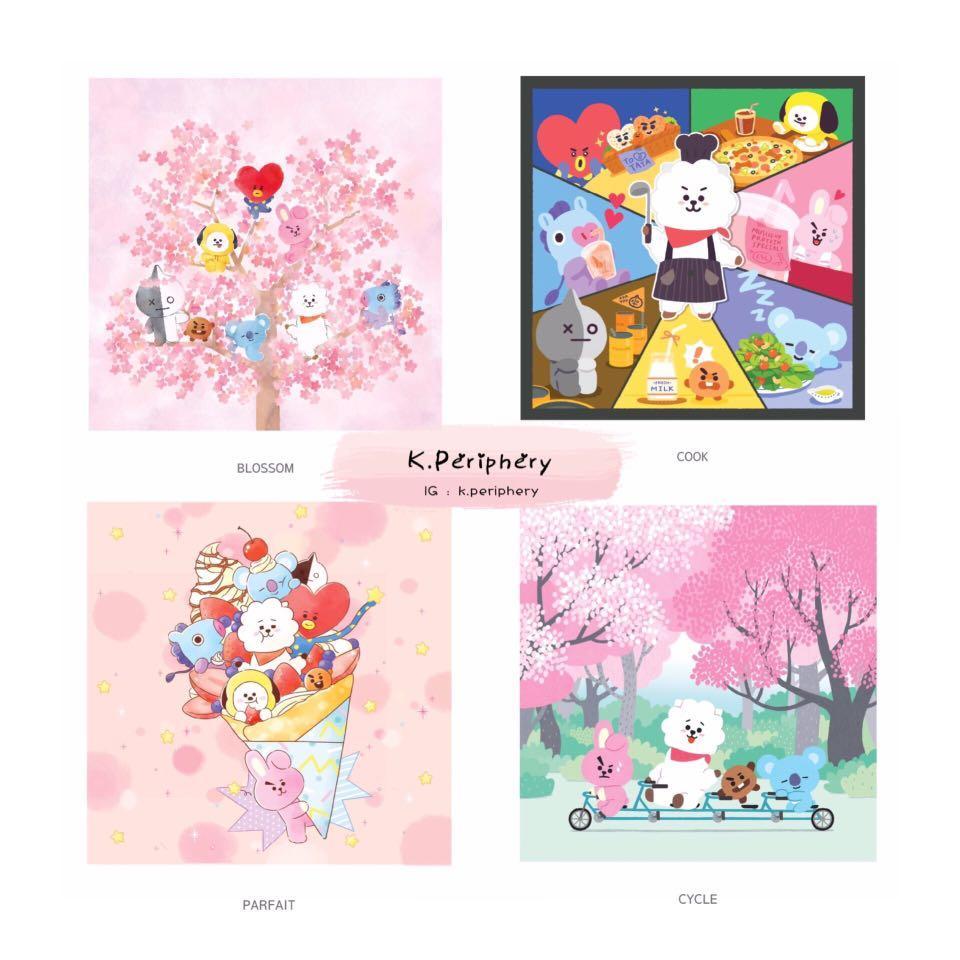 【🇰🇷 PRE-ORDER】BT21 x Monopoly Handkerchief - Artwork