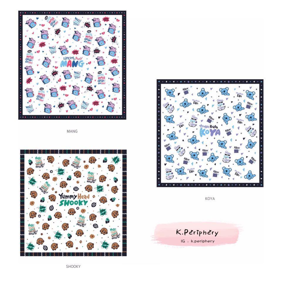【🇰🇷 PRE-ORDER】BT21 x Monopoly Handkerchief - Press