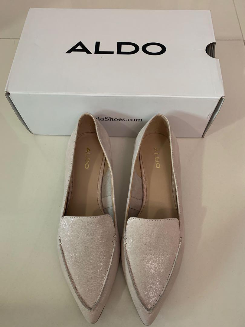 Aldo Flats White EU38, Women's Fashion