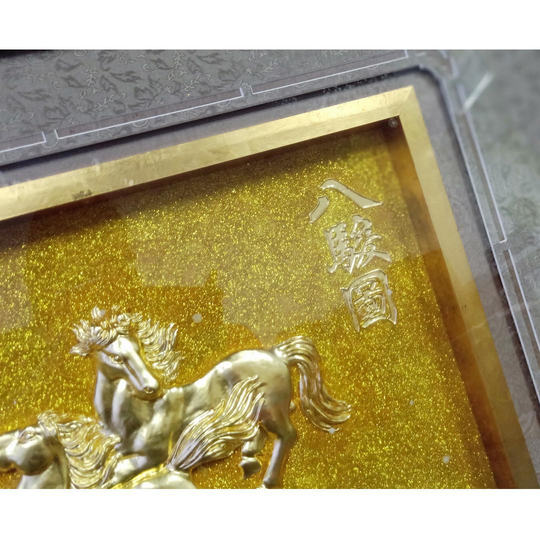 Art Frame Painting Eight Horses Deity Wind