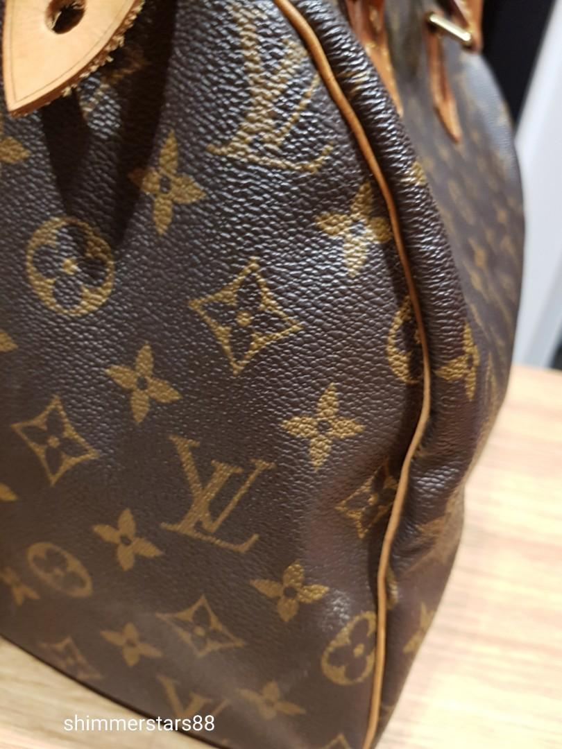 Authentic Louis Vuitton LV Monogram classic Speedy 30 bag tote handbag
