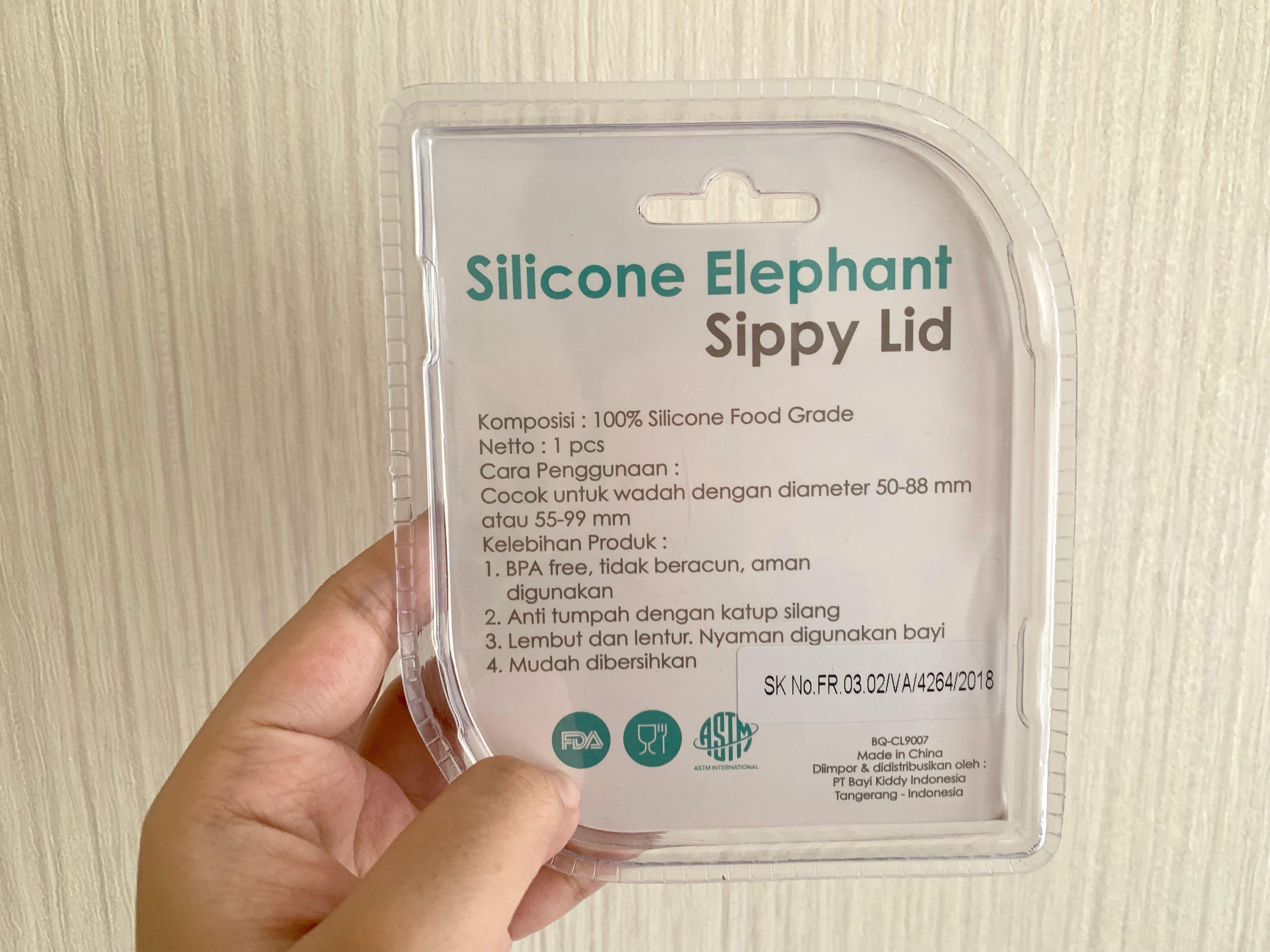 BABYQLO Silicone Elephant Sippy Lid