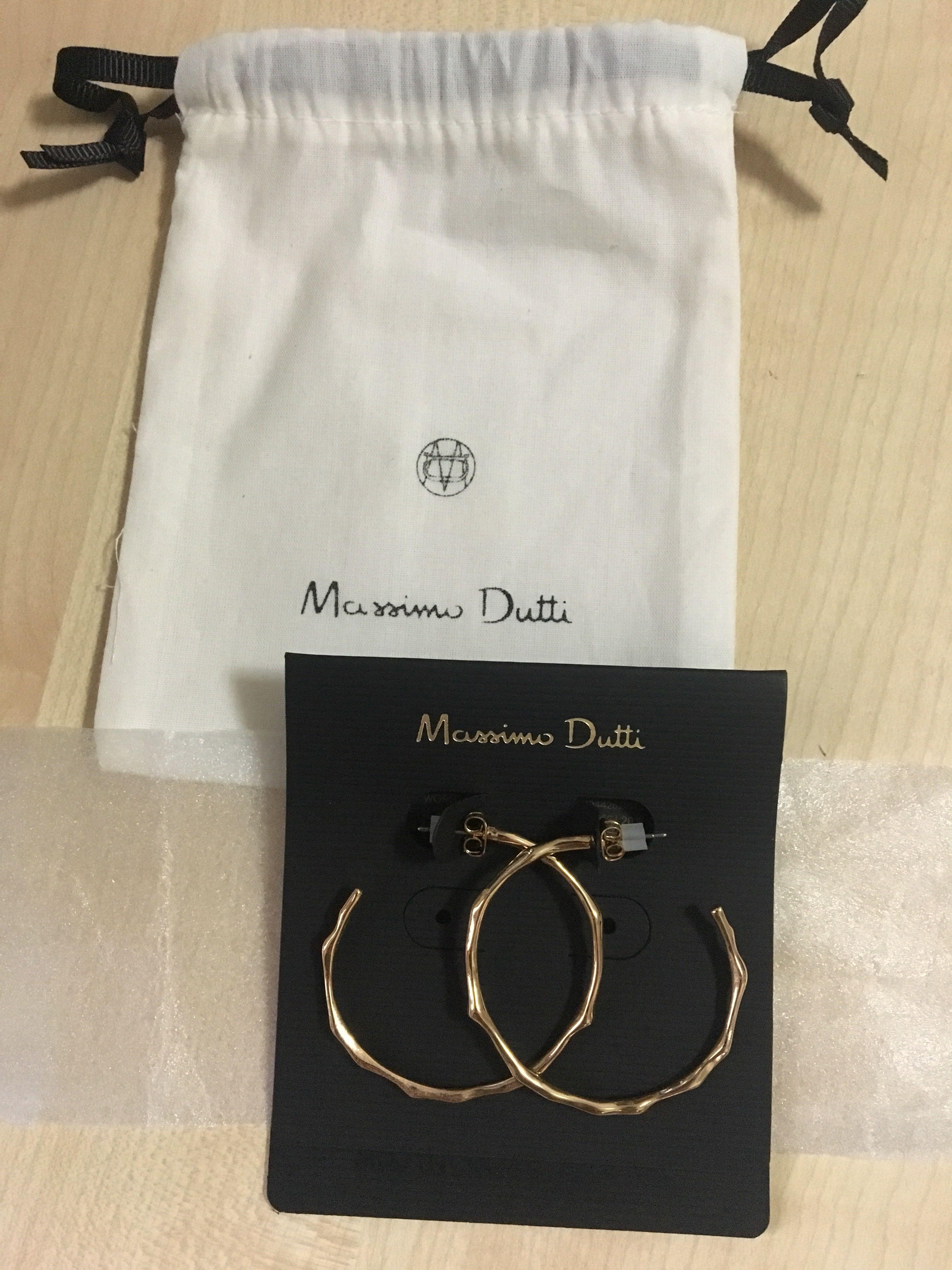 BN Massimo Dutti Gold Hoop Earrings