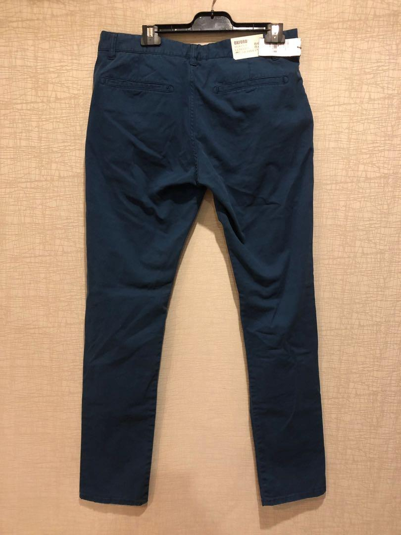 BNWT RRP $149 Blue Oxford Stretch Skinny Fit Chinos Size 86