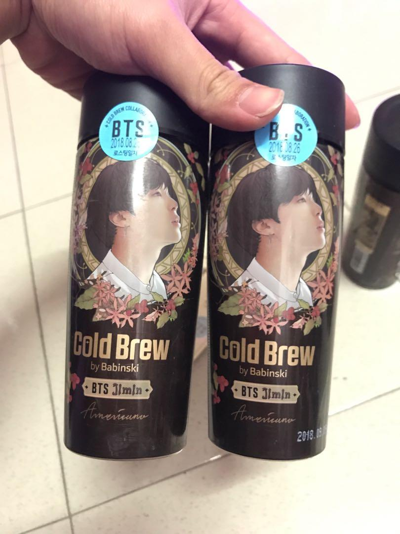 BTS Jimin, Suga & Jin Edition Cold Brew Americano Coffee Empty Bottle 2018 Korea
