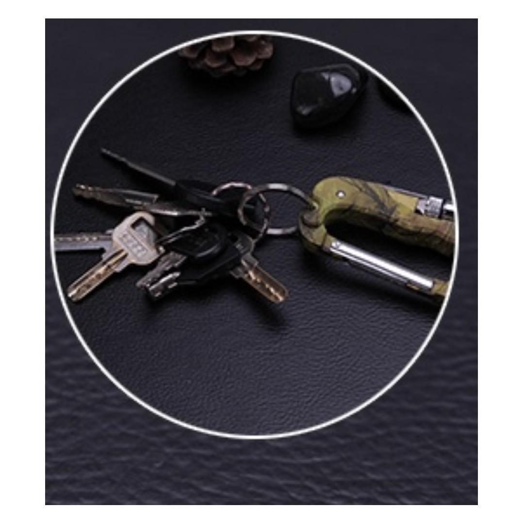 Camouflage Multi-functional Carabiner With LED Light Free Shipping