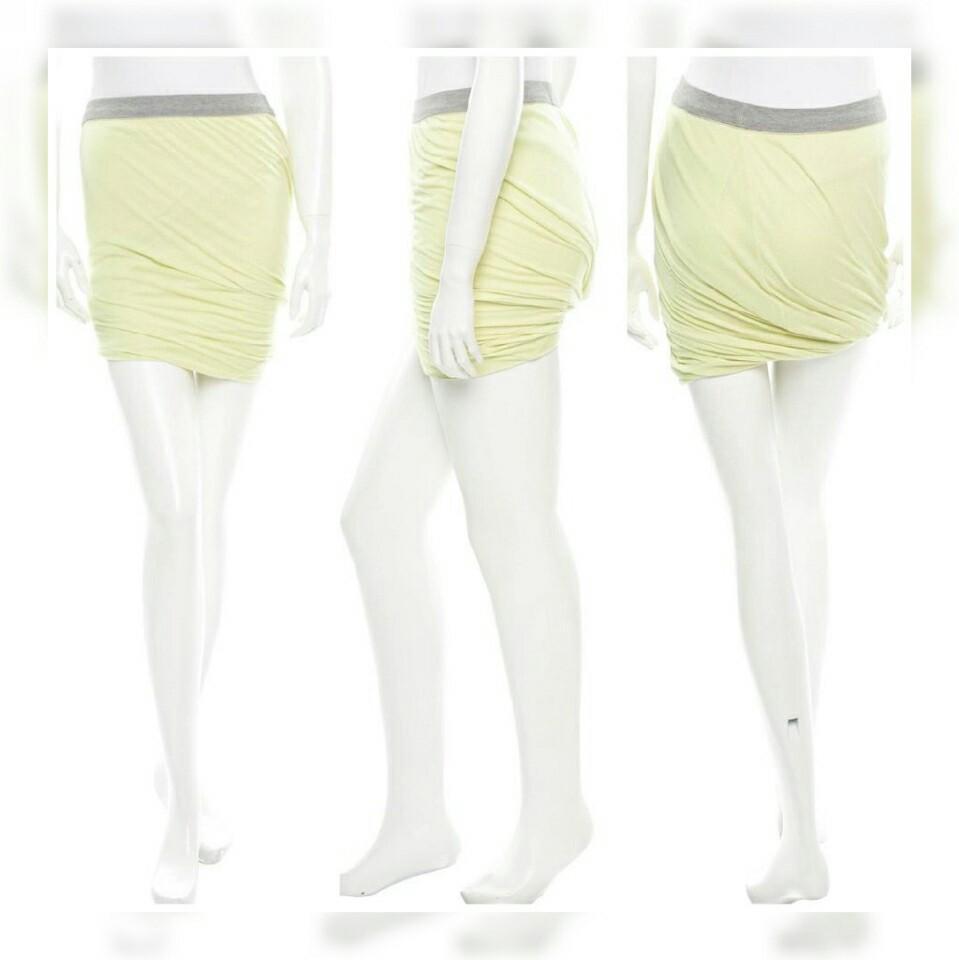 #chopecarousell Alexander wang jersey twisted bodycon skirt import / rok midi casual branded murah
