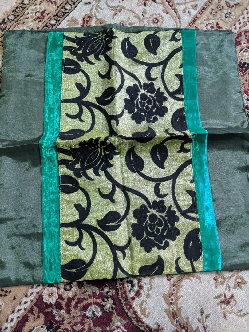 Cushion Covers (Floral Green)