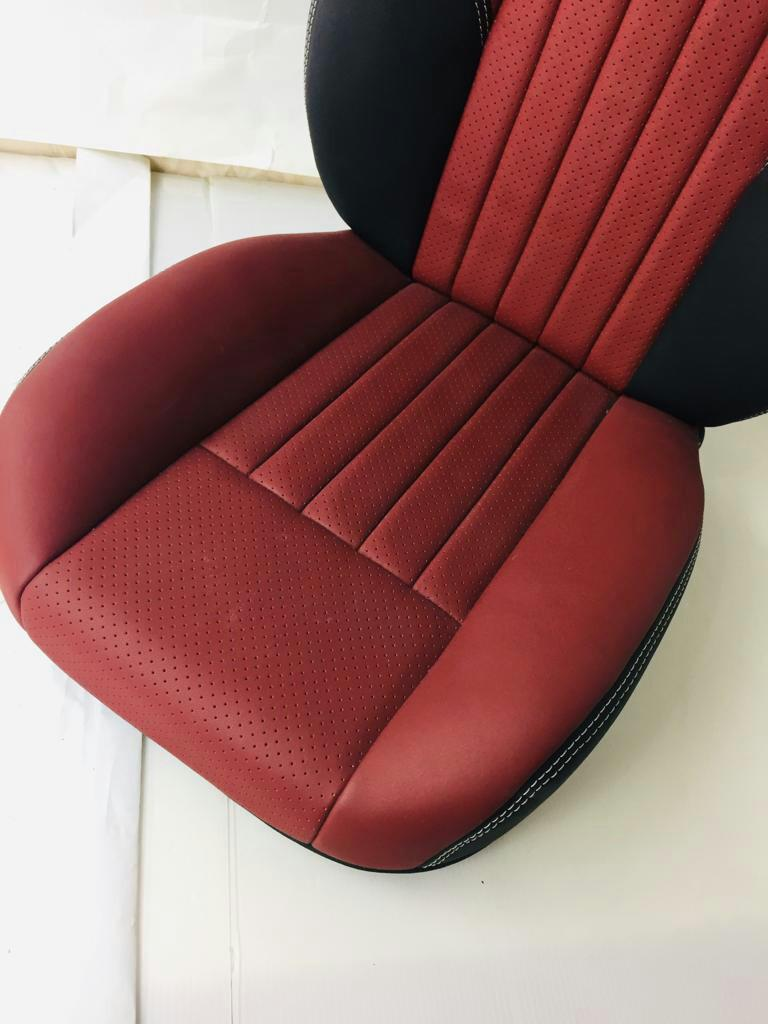 Custom made leather upholstery
