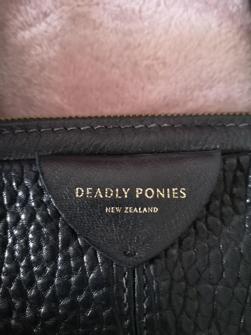 Deadly Ponies Mr Mini Gator Gang leather Handbag, as new