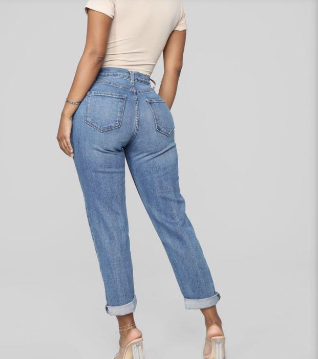Fashion Nova - Mama Jeans Medium Blue Denim - Size 3 *BRAND NEW*