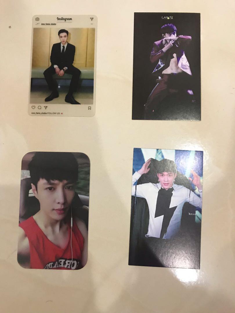 (Free) EXO Lay Zhang YiXing  Photo Cards / Fans Made Goods EXO Merchandise #Betul2Free