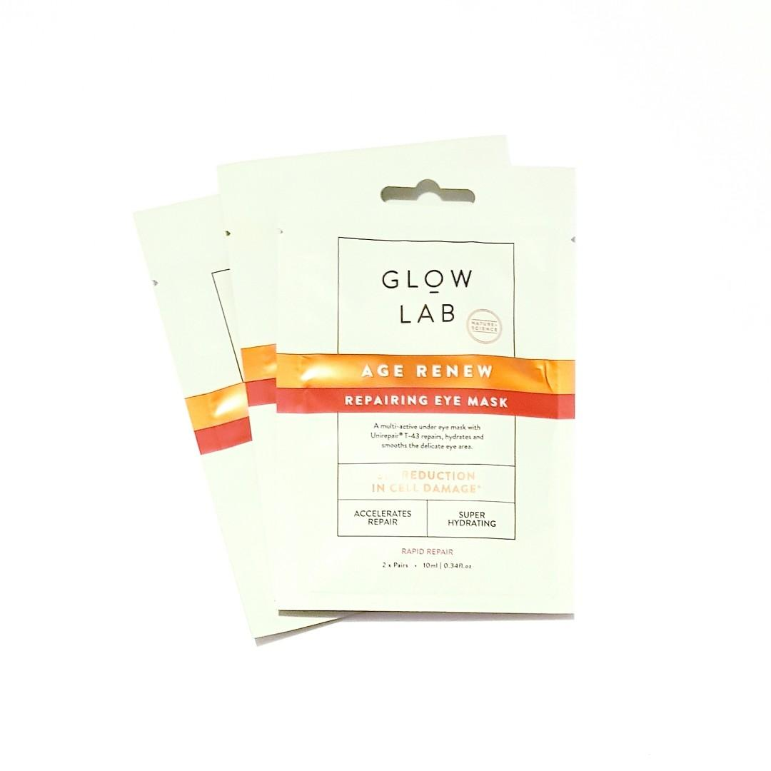 Glow Lab Nature + Science Age Renew Regenerative Rapid Repairing Super Hydrating Cruelty Free & Dermatologically Tested Eye Mask