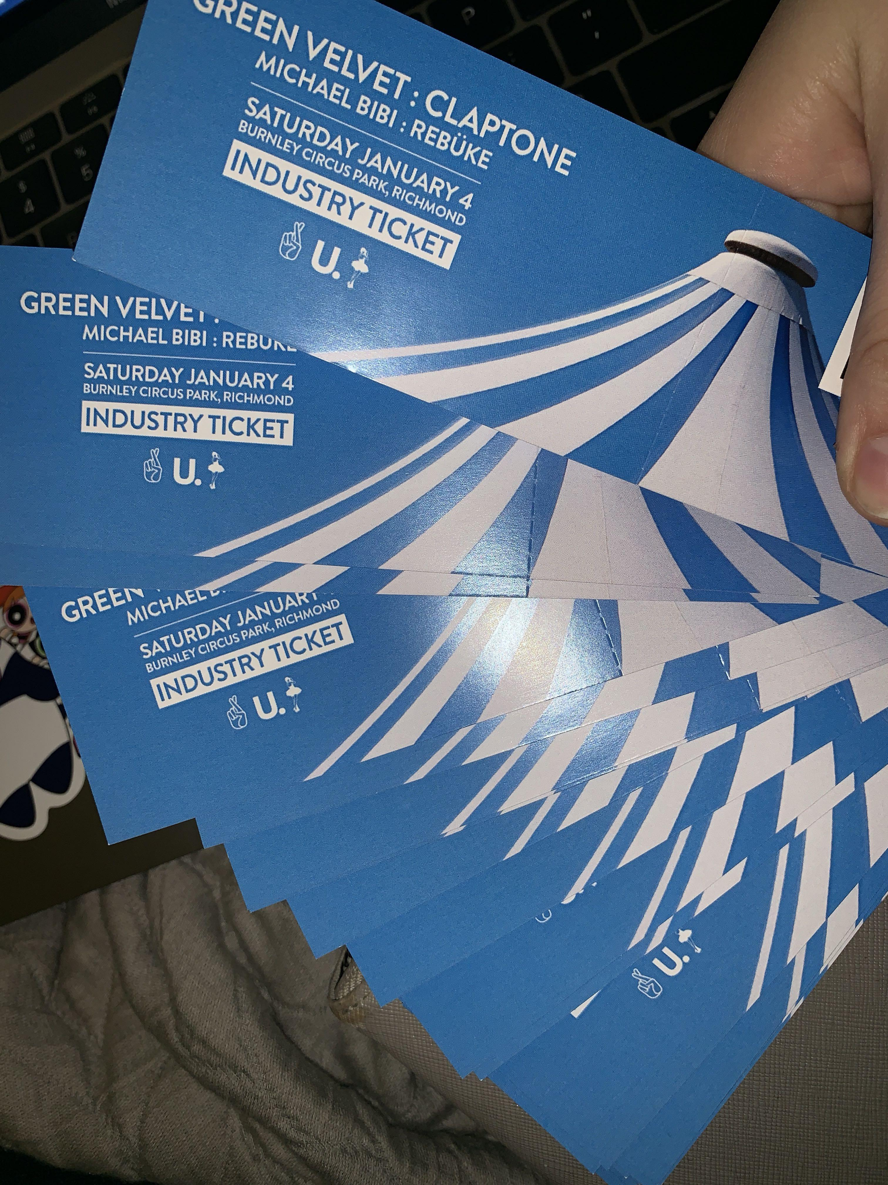 Green Velvet: Claptone: Michael Bibi: Rebuke tickets
