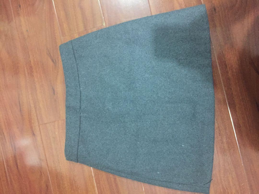 Grey A Line Skirt Size Medium Asian Size from YesStyle