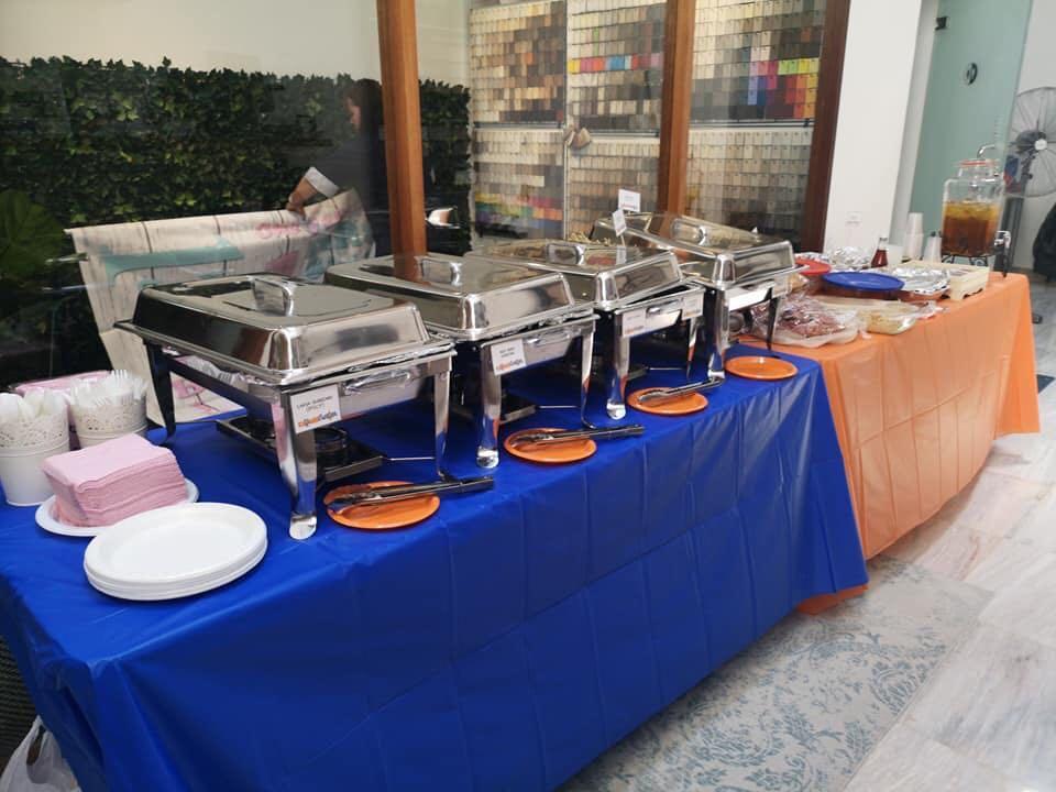 Halal Buffet set up