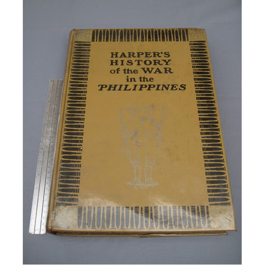 Harpers History of War in the Phil Book antique vintage memorabilia collectible
