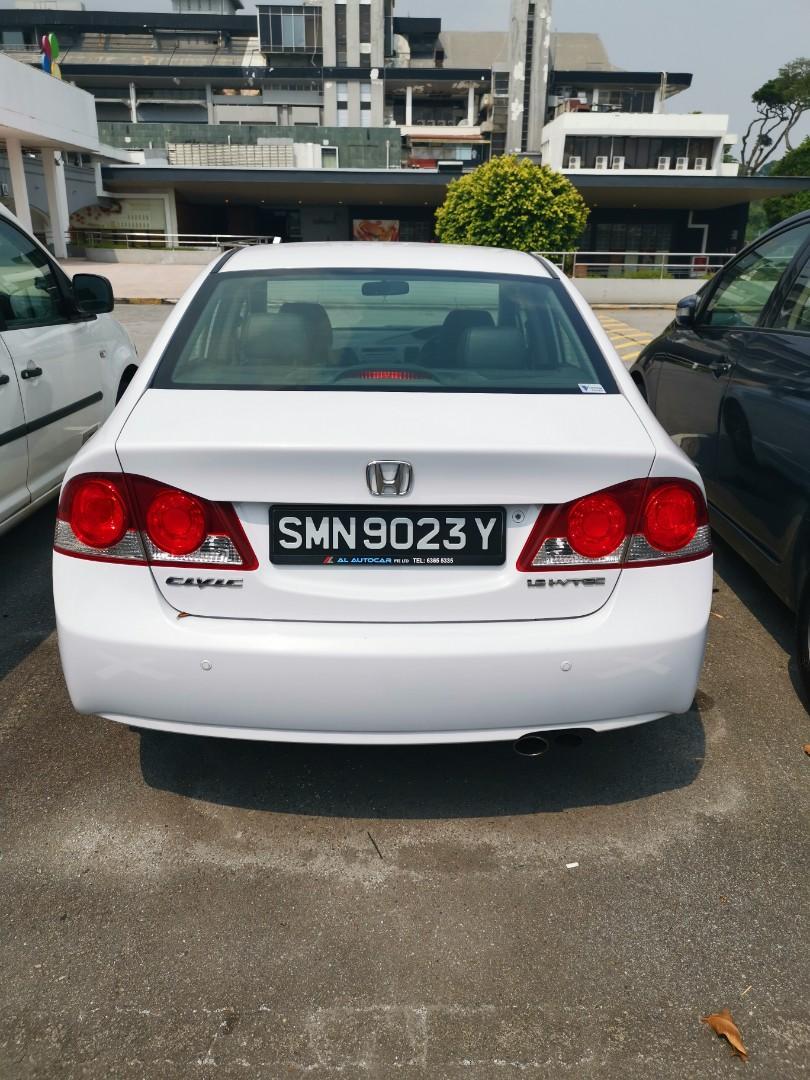 Honda Civic 1.8A for rental , phv usage welcome.Gojek $150 rebates