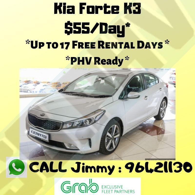 Kia K3 for PHV  Rental Rebates