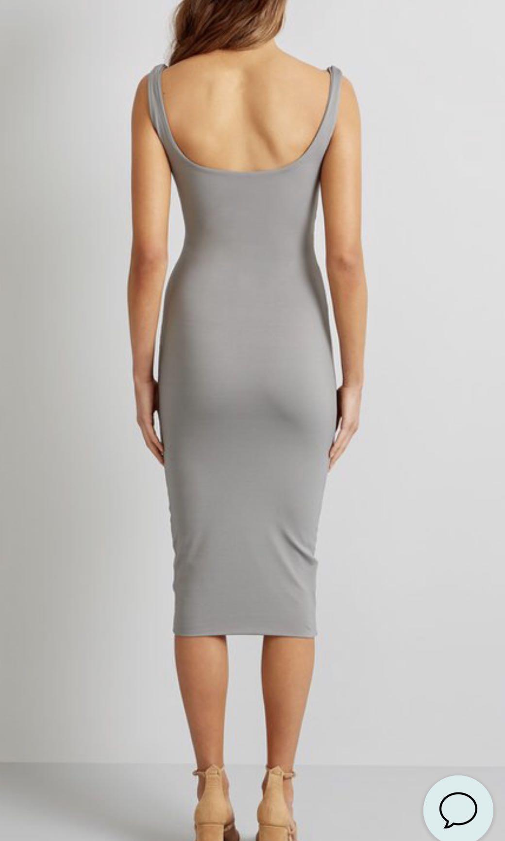 Kookai Nantes Midi Dress Olive Size 1 (fits au 6-8)