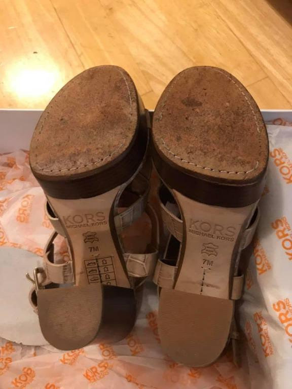 Kors Micheal Kors crocodile effect leather sandals (Size 7)
