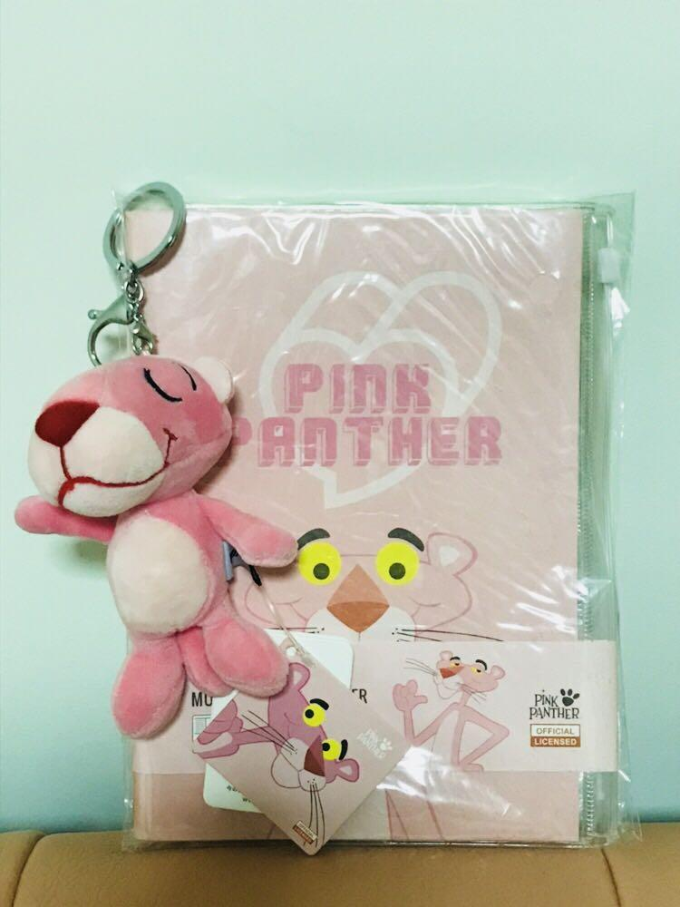 Miniso Pink Panther Planner and Keychain