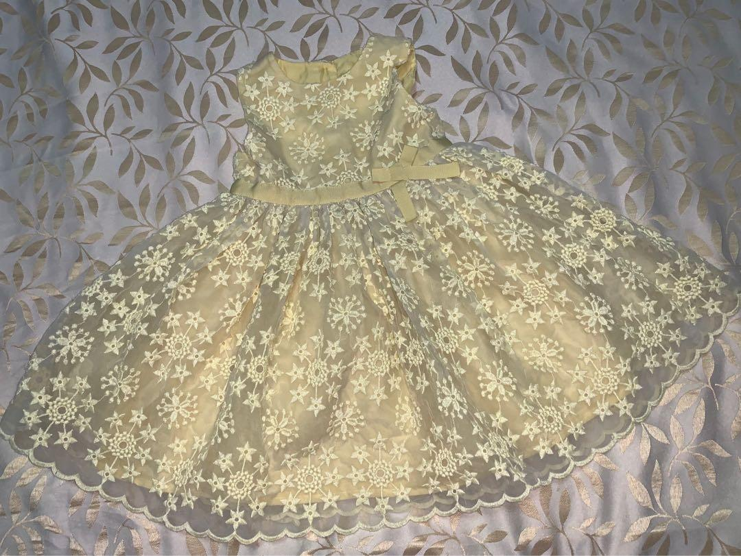 Mothercare Pale Yellow Dress
