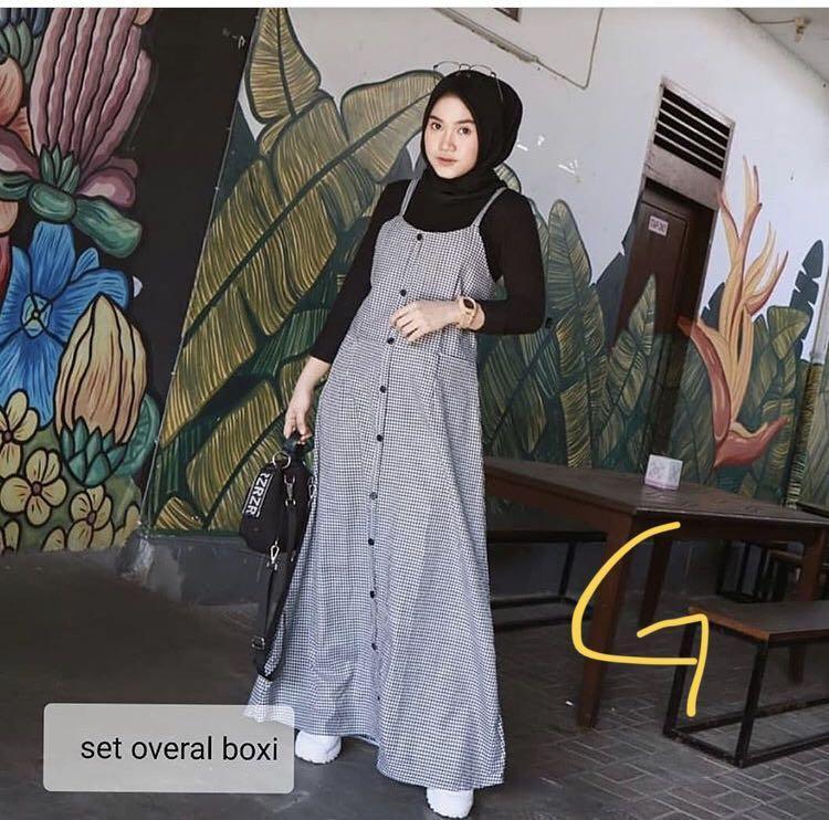 Muslimah hijab set overall style