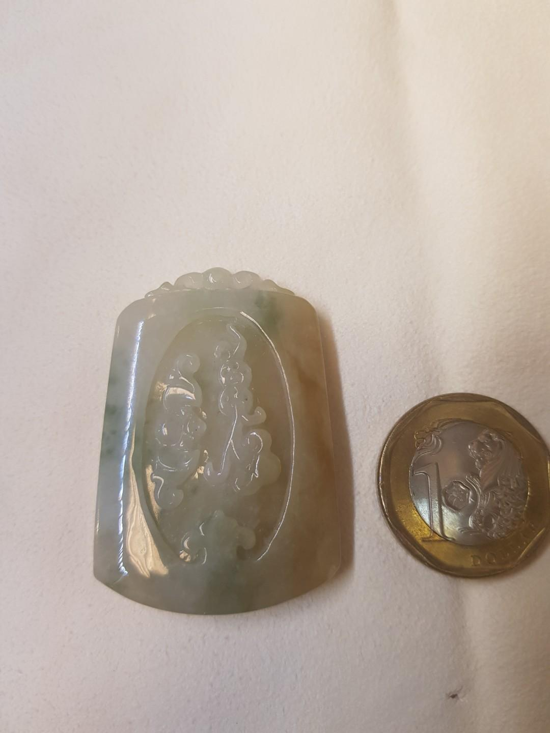Natural Type A tri color Jade(w/ cert)