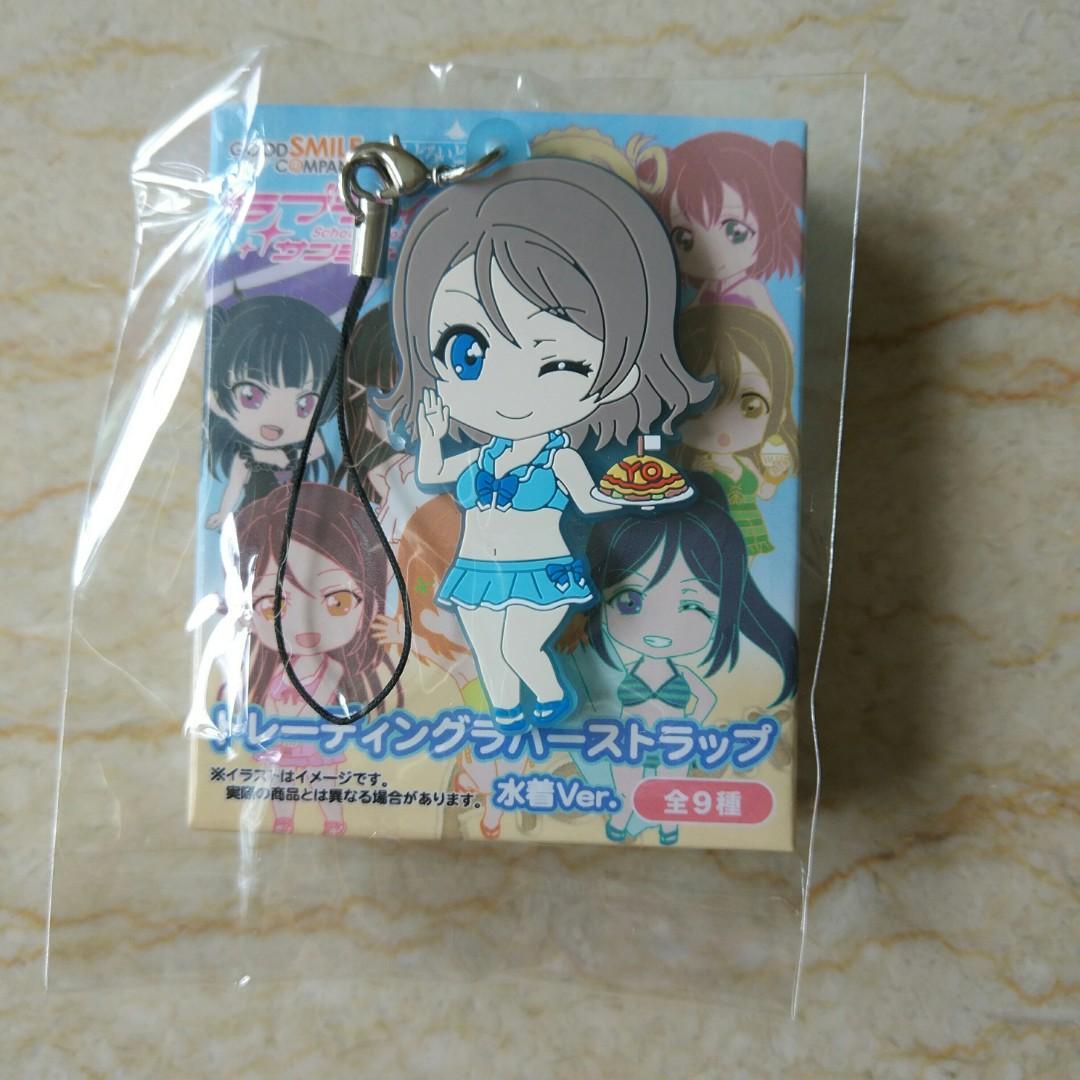 3 NEW Love Live Eli Nendoroid Plus Rubber Phone Strap Vol