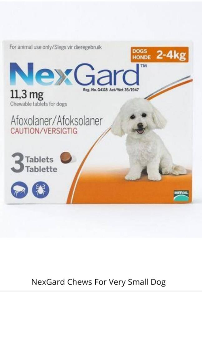 10.10 promotion ! Nexgard chews for dog