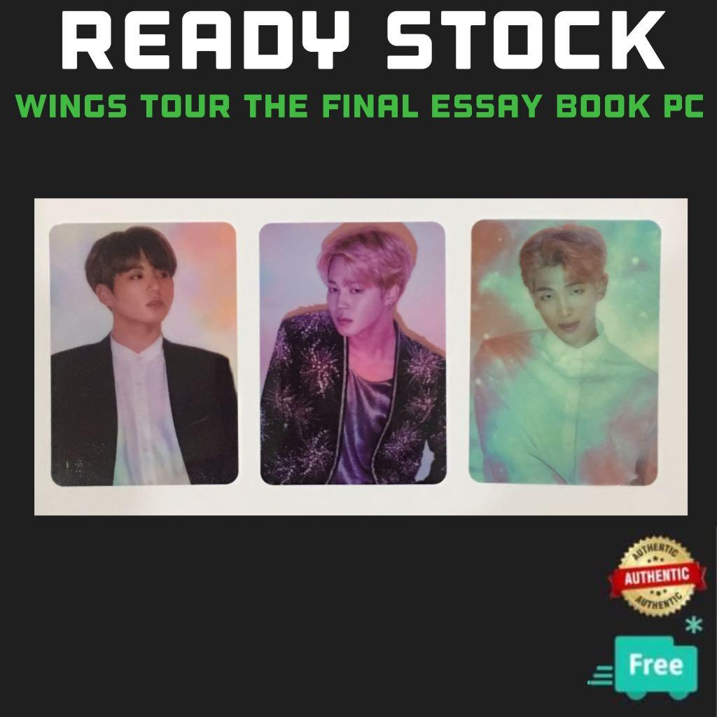 (RESTOCK)OFFICIAL BTS WINGS TOUR THE FINAL ESSAY BOOK PC