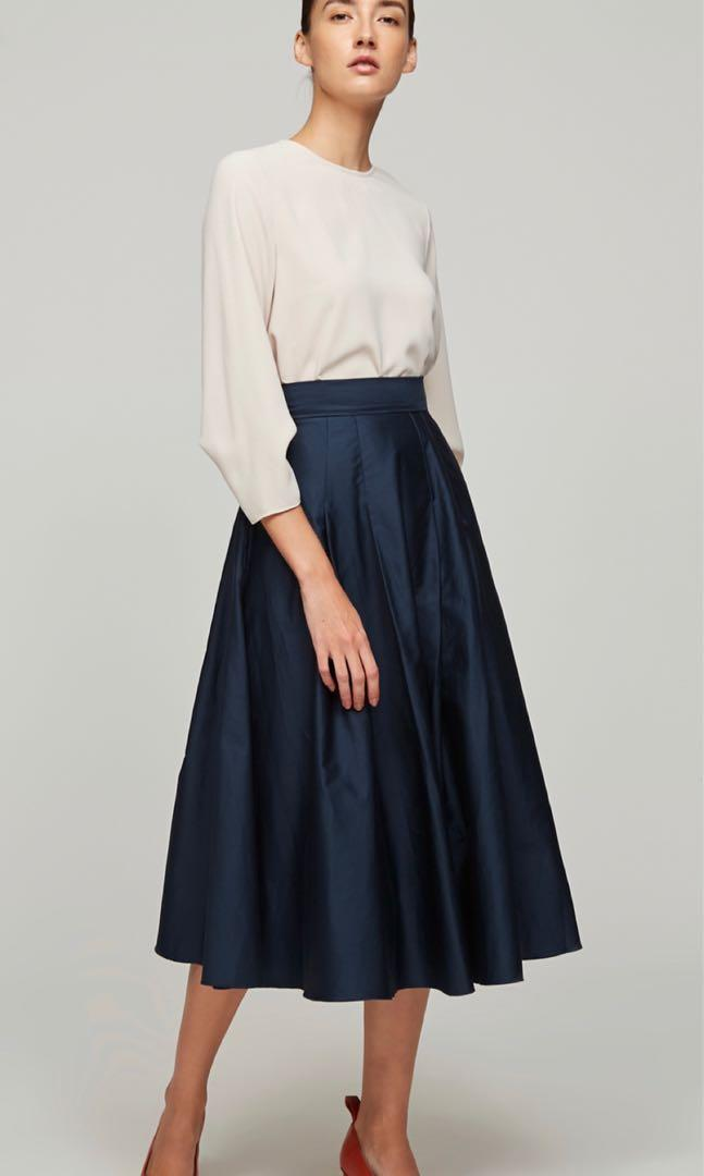 Our Second Nature OSN Cotton Midi Skirt