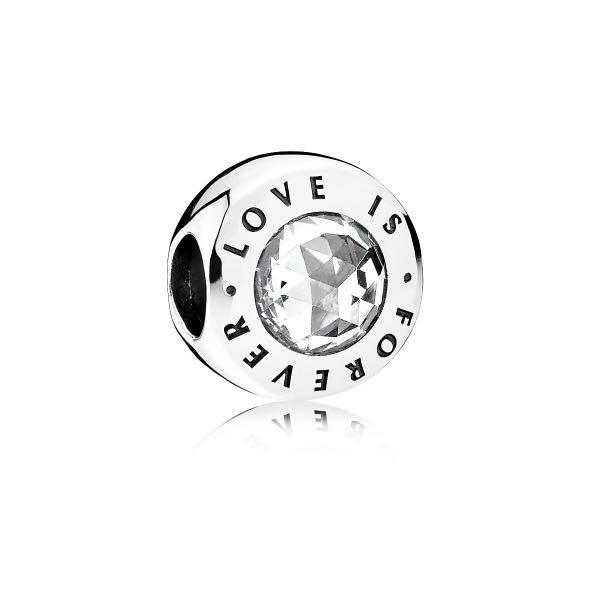 PANDORA LOVE IS FOREVER SILVER CHARM