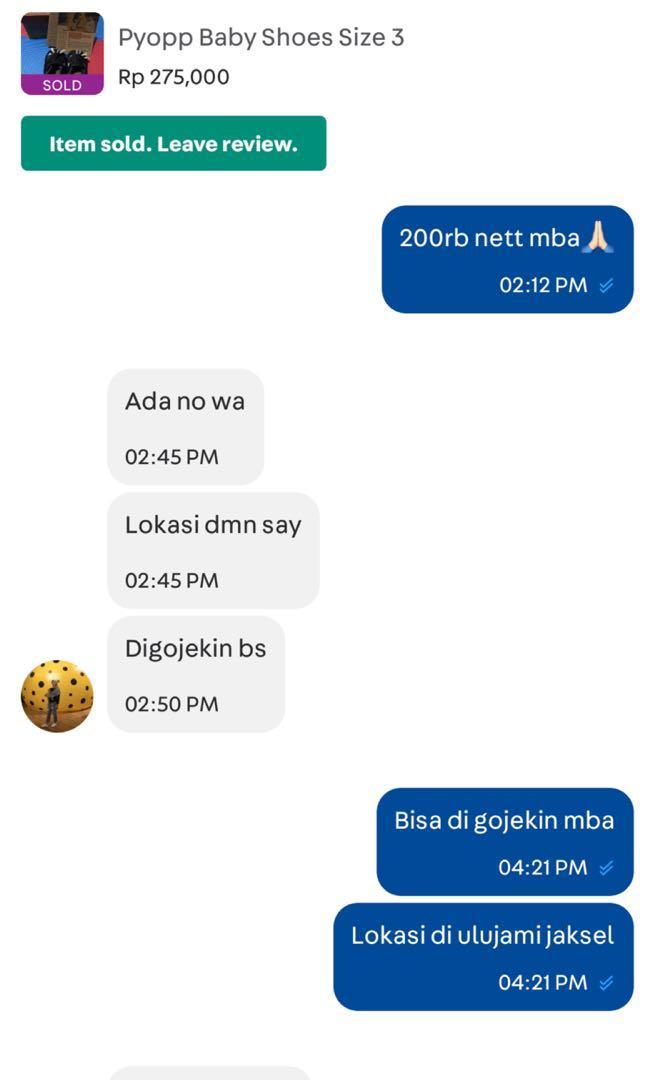 PEMBELINYA MERUSAK NAMA BAIK TOKO