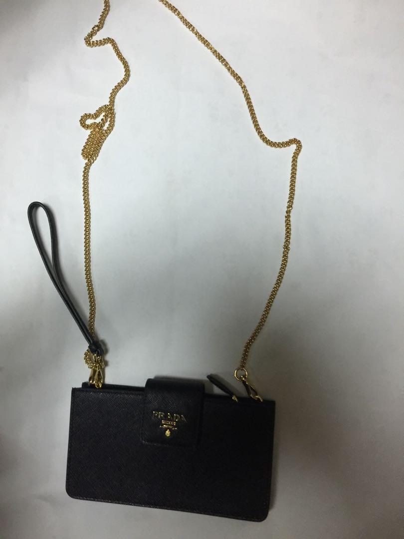 Prada iPhone case wallet on chain
