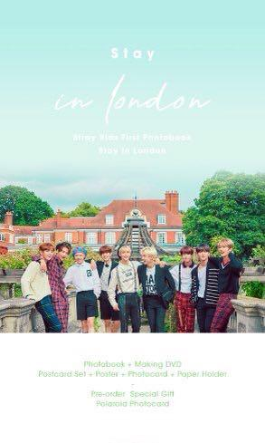 [Pre order] Loose items - Stray Kids 1st Photobook STAY in London