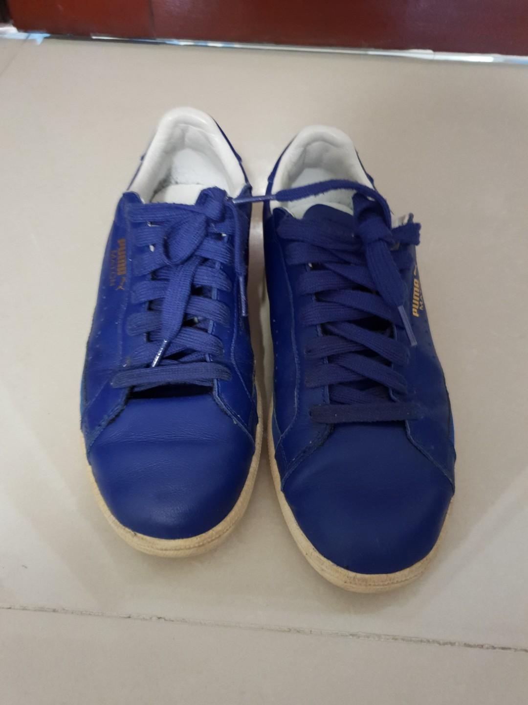 Puma blue leather sneakers
