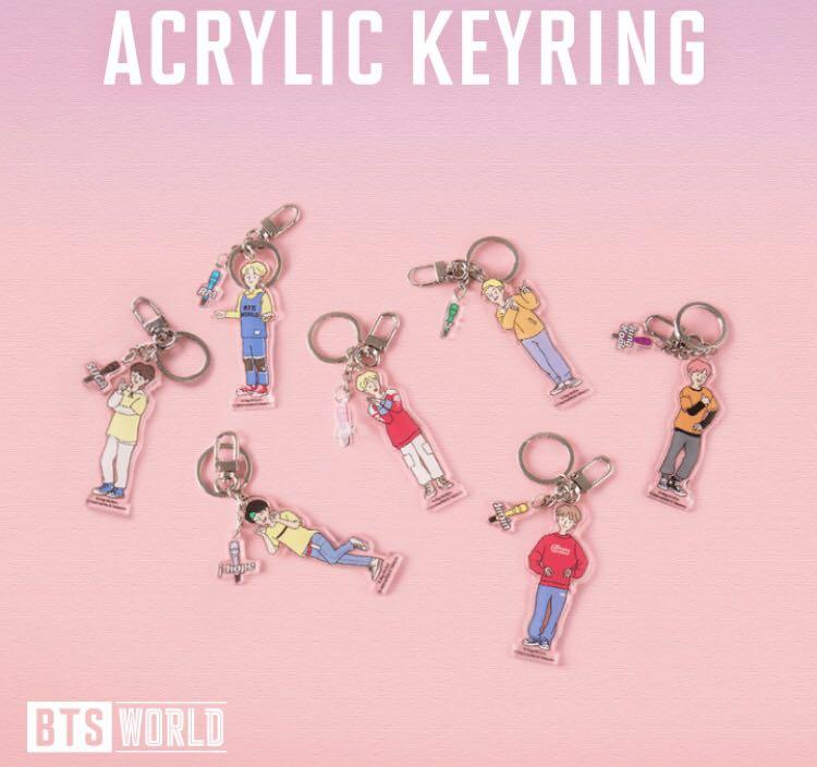 [READY STOCK] BTS WORLD ACRYLIC KEYRING (Jimin & Jungkook)