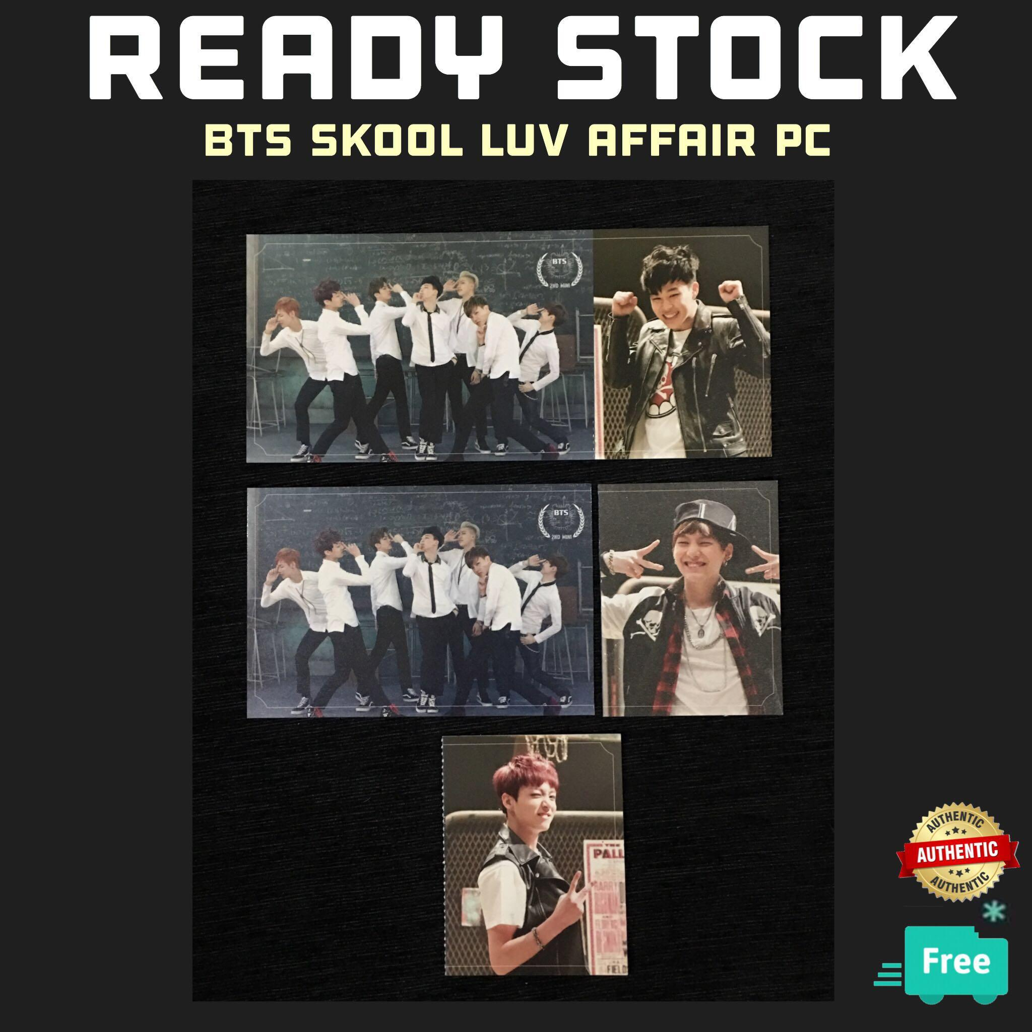 (RESTOCK) OFFICIAL BTS SKOOL LUV AFFAIR PC PHOTOCARDS