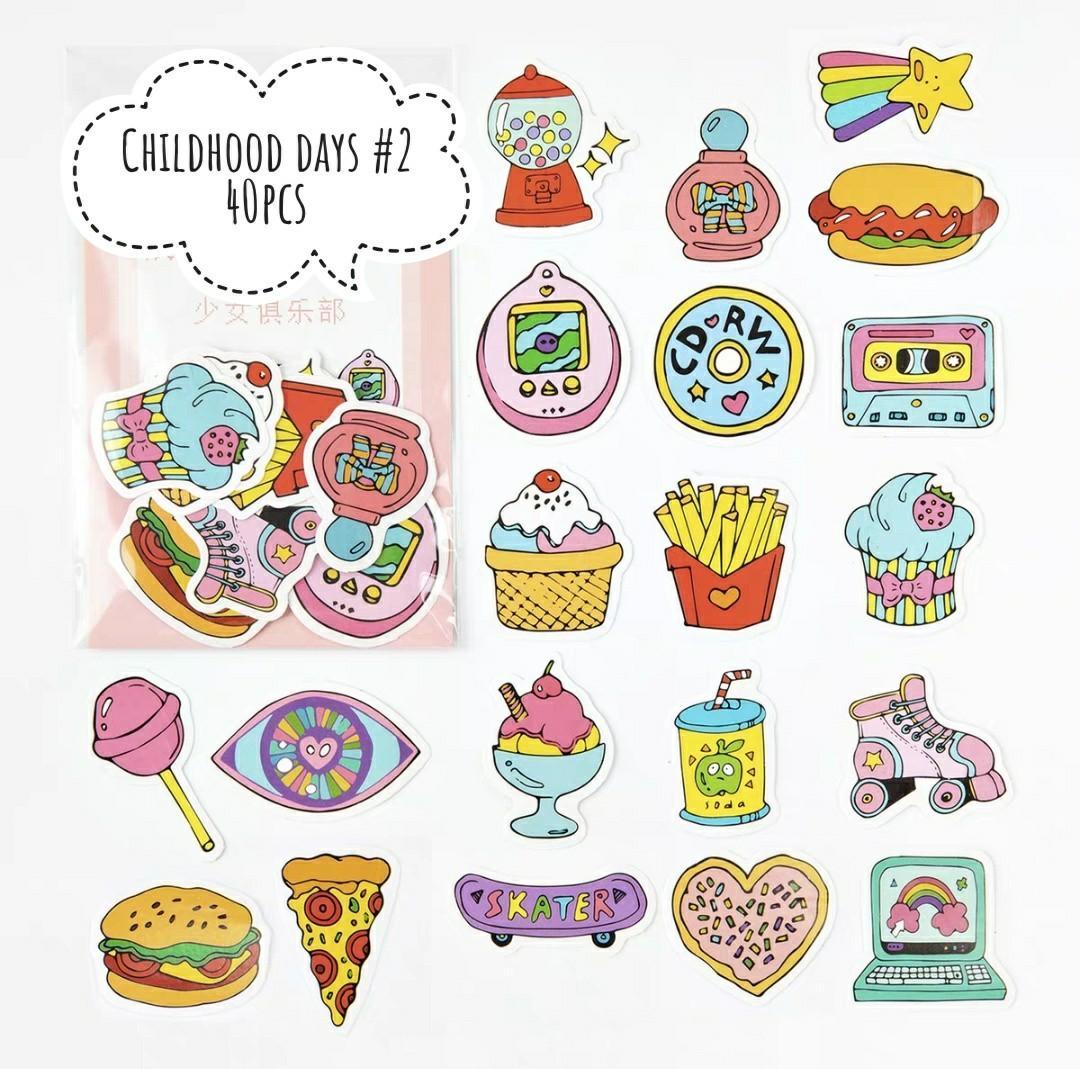 [S](#1-#2)Childhood days stickers