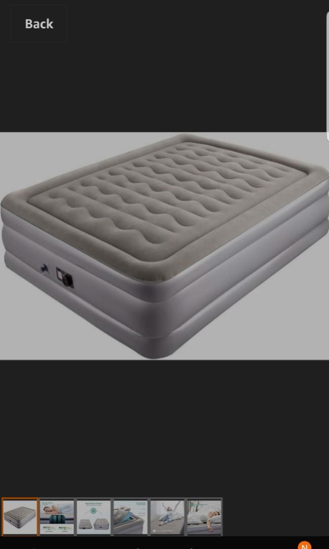 Sable Air Mattress Raised Inflatable Airbed With Built In Electric Pump And Storage Bag Height 19 Inches Queen Size Furniture Others On Carousell